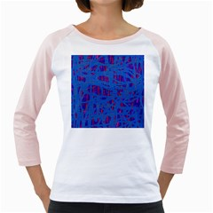 Deep Blue Pattern Girly Raglans by Valentinaart