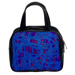Deep Blue Pattern Classic Handbags (2 Sides) by Valentinaart