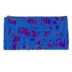Deep Blue Pattern Pencil Cases by Valentinaart