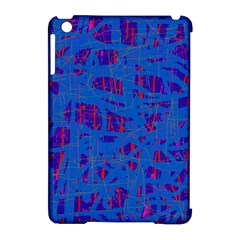 Deep Blue Pattern Apple Ipad Mini Hardshell Case (compatible With Smart Cover) by Valentinaart