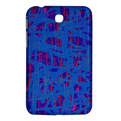 Deep Blue Pattern Samsung Galaxy Tab 3 (7 ) P3200 Hardshell Case  by Valentinaart