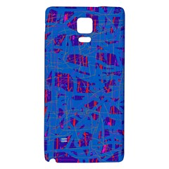 Deep Blue Pattern Galaxy Note 4 Back Case by Valentinaart