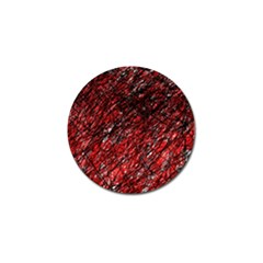 Red And Black Pattern Golf Ball Marker (4 Pack) by Valentinaart