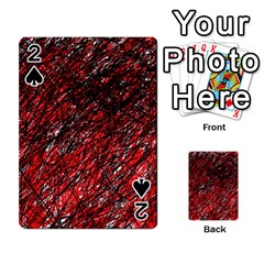 Red And Black Pattern Playing Cards 54 Designs
