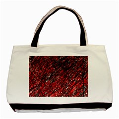 Red And Black Pattern Basic Tote Bag by Valentinaart
