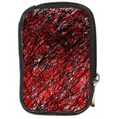 Red And Black Pattern Compact Camera Cases by Valentinaart