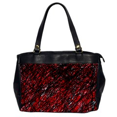 Red And Black Pattern Office Handbags by Valentinaart