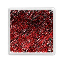 Red And Black Pattern Memory Card Reader (square)  by Valentinaart