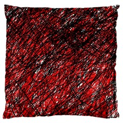 Red And Black Pattern Large Cushion Case (two Sides) by Valentinaart