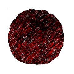 Red And Black Pattern Standard 15  Premium Round Cushions by Valentinaart
