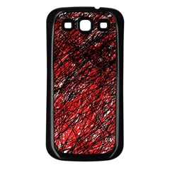 Red And Black Pattern Samsung Galaxy S3 Back Case (black) by Valentinaart