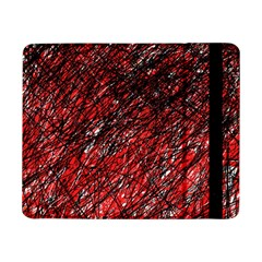Red And Black Pattern Samsung Galaxy Tab Pro 8 4  Flip Case by Valentinaart