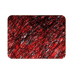 Red And Black Pattern Double Sided Flano Blanket (mini)  by Valentinaart