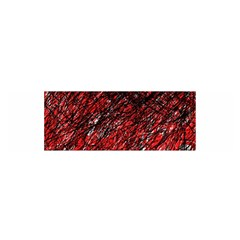 Red And Black Pattern Satin Scarf (oblong) by Valentinaart