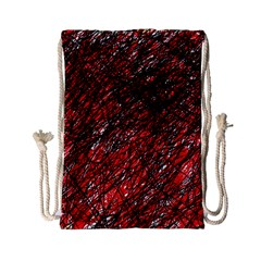 Red And Black Pattern Drawstring Bag (small) by Valentinaart