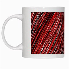 Red And Black Elegant Pattern White Mugs by Valentinaart