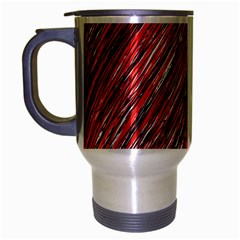 Red And Black Elegant Pattern Travel Mug (silver Gray) by Valentinaart