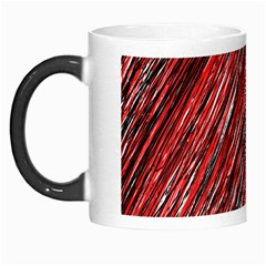 Red And Black Elegant Pattern Morph Mugs by Valentinaart