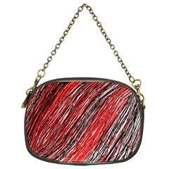 Red And Black Elegant Pattern Chain Purses (two Sides)  by Valentinaart
