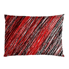 Red And Black Elegant Pattern Pillow Case by Valentinaart