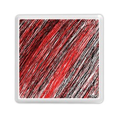 Red And Black Elegant Pattern Memory Card Reader (square)  by Valentinaart
