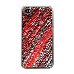 Red And Black Elegant Pattern Apple Iphone 4 Case (clear) by Valentinaart