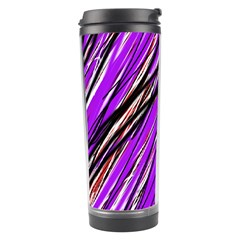 Purple Pattern Travel Tumbler by Valentinaart