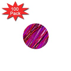 Purple Pattern 1  Mini Buttons (100 Pack)  by Valentinaart