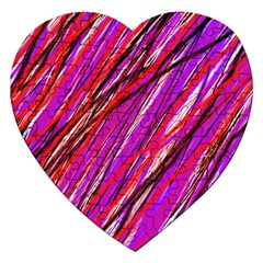 Purple Pattern Jigsaw Puzzle (heart) by Valentinaart