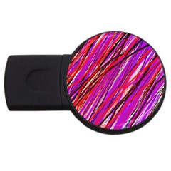 Purple Pattern Usb Flash Drive Round (4 Gb)  by Valentinaart