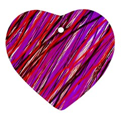 Purple Pattern Heart Ornament (2 Sides) by Valentinaart
