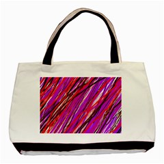 Purple Pattern Basic Tote Bag (two Sides) by Valentinaart