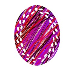 Purple Pattern Ornament (oval Filigree)  by Valentinaart
