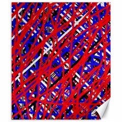 Red And Blue Pattern Canvas 8  X 10  by Valentinaart