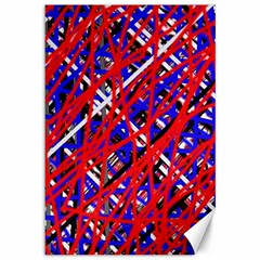 Red And Blue Pattern Canvas 12  X 18   by Valentinaart
