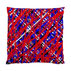 Red And Blue Pattern Standard Cushion Case (one Side) by Valentinaart
