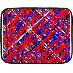 Red And Blue Pattern Fleece Blanket (mini) by Valentinaart