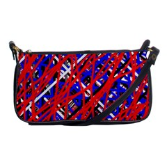 Red And Blue Pattern Shoulder Clutch Bags by Valentinaart