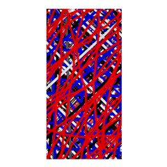Red And Blue Pattern Shower Curtain 36  X 72  (stall)  by Valentinaart