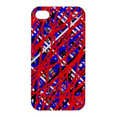 Red And Blue Pattern Apple Iphone 4/4s Hardshell Case by Valentinaart
