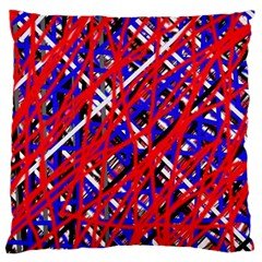 Red And Blue Pattern Large Cushion Case (one Side) by Valentinaart