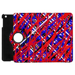 Red And Blue Pattern Apple Ipad Mini Flip 360 Case by Valentinaart