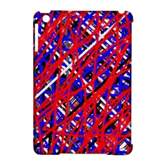 Red And Blue Pattern Apple Ipad Mini Hardshell Case (compatible With Smart Cover) by Valentinaart