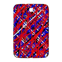 Red And Blue Pattern Samsung Galaxy Note 8 0 N5100 Hardshell Case  by Valentinaart