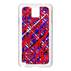 Red And Blue Pattern Samsung Galaxy Note 3 N9005 Case (white) by Valentinaart