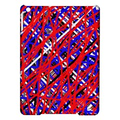 Red And Blue Pattern Ipad Air Hardshell Cases by Valentinaart