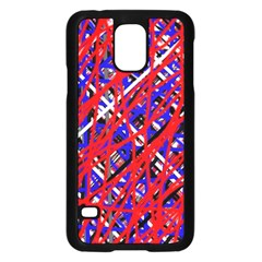 Red And Blue Pattern Samsung Galaxy S5 Case (black) by Valentinaart