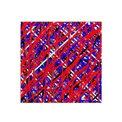 Red And Blue Pattern Satin Bandana Scarf by Valentinaart