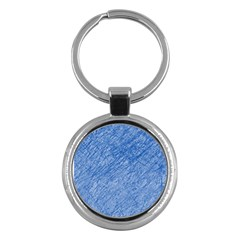 Blue Pattern Key Chains (round)  by Valentinaart