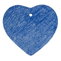 Blue Pattern Heart Ornament (2 Sides) by Valentinaart